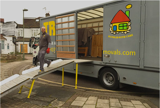 our house removals barnet team at work