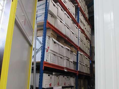 self-storage area