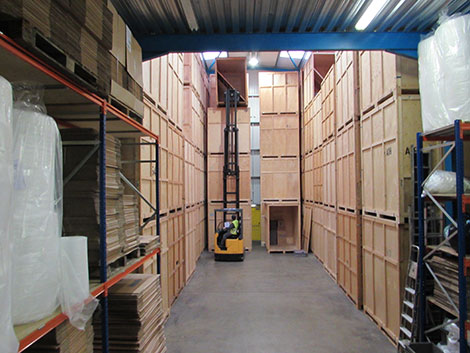 our self storage container area